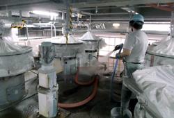 設備の洗浄作業